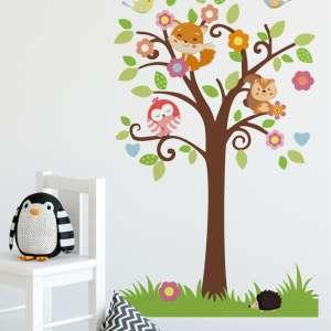 Dječje naljepnice za zid - drvo