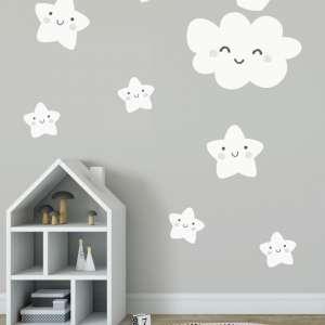 naljepnice dječje - Oblak s krunom i zvjezdice
