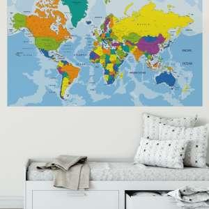 karta svijeta za zid