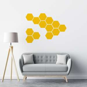 Naljepnice saće žuta boja