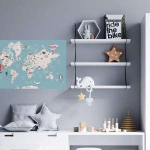 naljepnica dječja karta svijeta Baloni