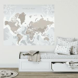 Karta svijeta 150x120cm