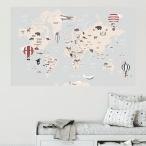 Karta svijeta sa životinjama