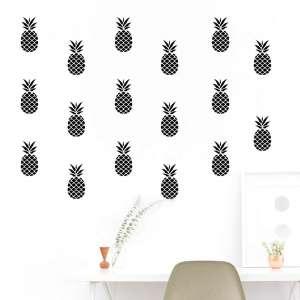 Naljepnice Ananasi crni