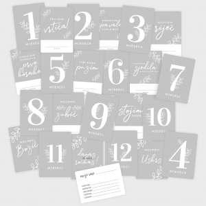 Milestone kartice set