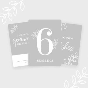 Milestone Kartice za Djevojčice - Set 10