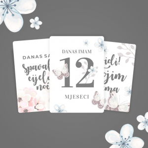 Milestone Kartice za Djevojčice - Watercolor Set 5