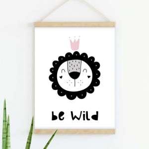 Sretni poster Be Wild Pink