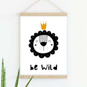 Sretni poster Be Wild Yellow
