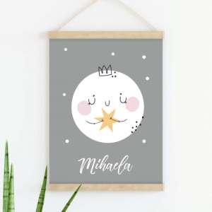 Sretni poster Mjesec Pink
