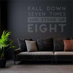 Zidna naljepnica Fall Down Stand Up