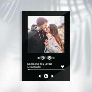 Personalizirani poklona za zaljubljene - Naša pjesma, crni okvir