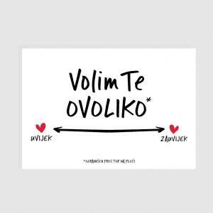Ljubavna Poruka - Volim Te Ovoliko