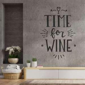 Zidna naljepnica Time for Wine