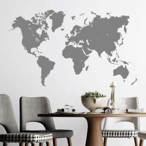 Zidna naljepnica World Map