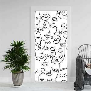 Abstract Faces - Naljepnica za Vrata