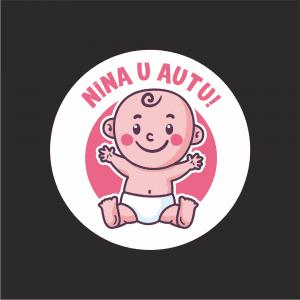 Naljepnica Beba u Autu - Curica 1