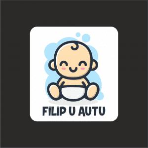 Naljepnica Beba u Autu - Dječak 3