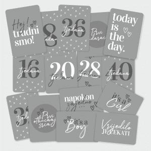 Milestone kartice za trudnice