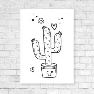 Canvas Vesela bojanka - Kaktus