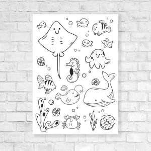 Canvas Vesela bojanka - Morski Život 2