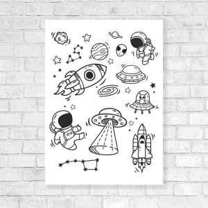 Canvas Vesela bojanka - Put kroz Svemir