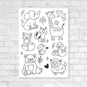 Canvas Vesela bojanka - Životinjski Svijet 1