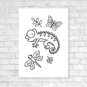 Canvas Vesela bojanka - Životinjski Svijet 2